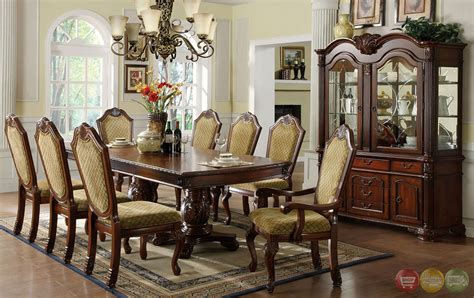 Formal Cherry Dining Room Sets Napa Valley Cherry Formal Dining Set With Pedestals Cm3005