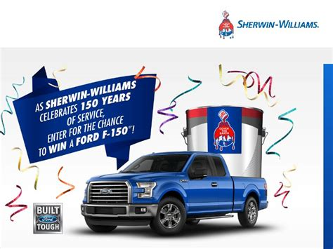 Sherwin Williams Sweepstakes - the sherwin williams company 150th celebration sweepstakes sweepstakes fanatics