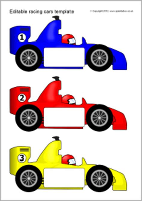 race car template editable racing car templates sb7757 sparklebox
