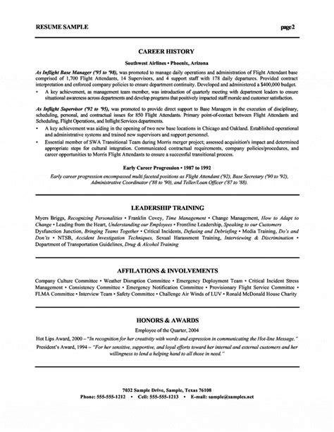 Cover Letter For Airlines Industry by Human Resources Executive Resume Airline Industry