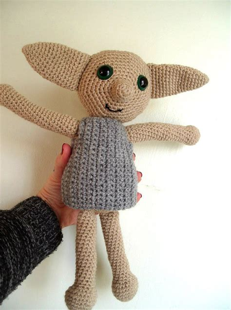 dobby house elf doll dobby the house elf inspired doll harry potter crochet