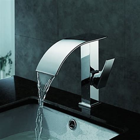 sink faucet design curved designer bathroom faucets houzz jado contemporary waterfall water