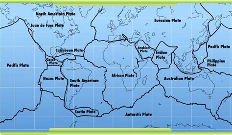 map of tectonic plates interactives dynamic earth plates boundaries