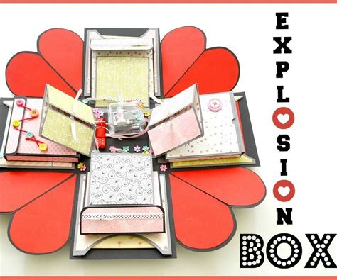 explosion box tutorial simple how to make an explosion box diy paper crafts