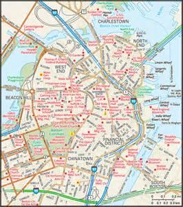 Map Of Downtown Boston by Boston Map Guide To Boston Massachusetts