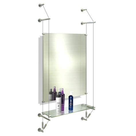 estuff salon mirror shelf cable system