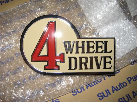 Emblem 4 Wheel Drive toyota fj40 land cruiser bj40 4 wheel drive emblem badge new oem 1970 1979 ebay