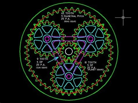 planetary gear design(true involute teeth) with autocad