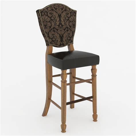 Bar Stools Traditional | traditional bar stool 02 3d model formfonts 3d models