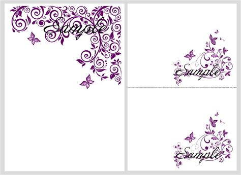 printable wedding invitation lavender 8 best images of purple butterfly templates printable free