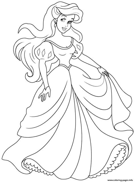 print princess ariel human coloring pages princess
