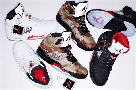 supreme retailers supreme x air 5 collection