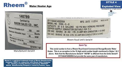 rheem water heaters age rheem 81v52d interrelationship diagrams