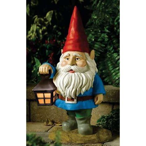 Gnomes Solar Garden Gnome W Lantern Thisnext