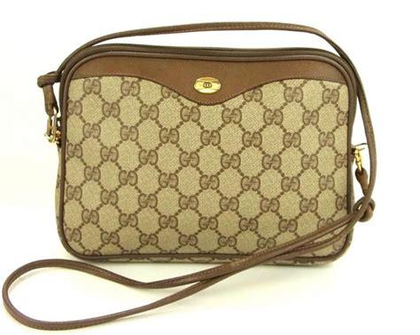 vintage gucci gg monogram shoulder bag cross body purse ebay
