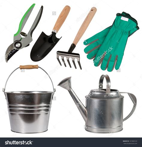 pictures tools for stock photo gardening tools isolated on white background