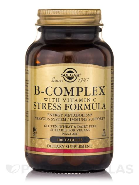 Vitamin B Complex Tablet b complex with vitamin c stress formula 100 tablets