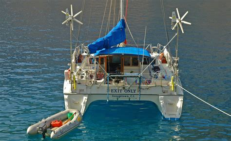 catamaran for sailing around the world blue water catamaran exit only sails offshore around the