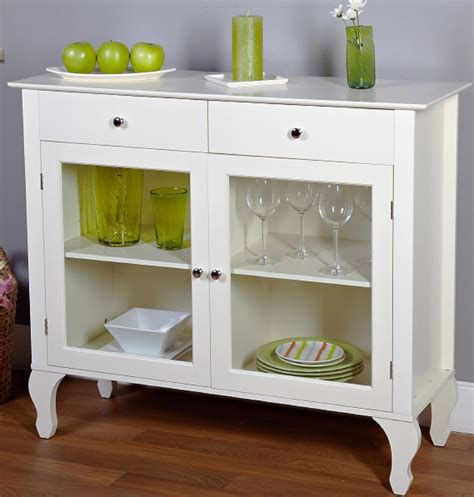 vintage buffet cabinet white antique kitchen storage shelves drawers glass doors ebay
