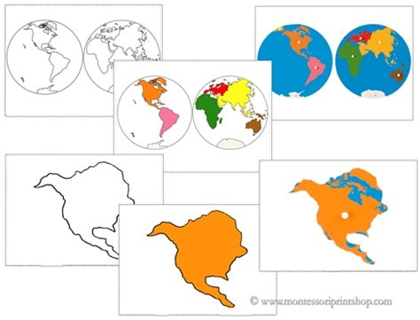 printable montessori pdf continent matching cards printable montessori geography