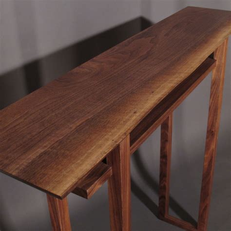 Handmade Modern Wood Furniture - modern narrow console tables entry tables and