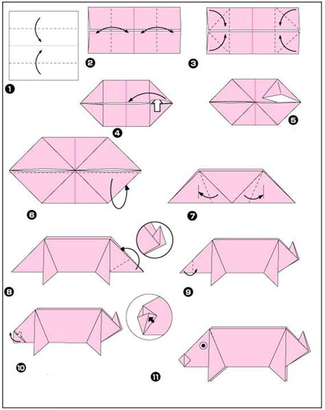 Origami Tips - origami pig things to make