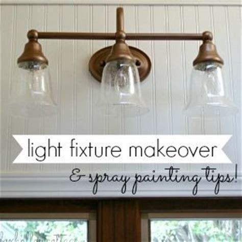 Spray Paint Light Fixture Diy Light Fixture Makeover Tutorial With Rust Oleum Spray Paint In Metallic Vintage Copper Diy