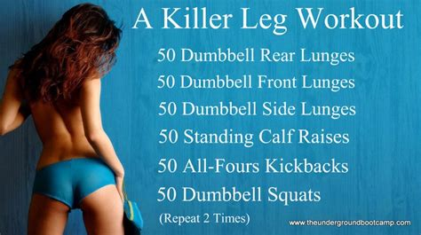 my killer leg workout routine workouts