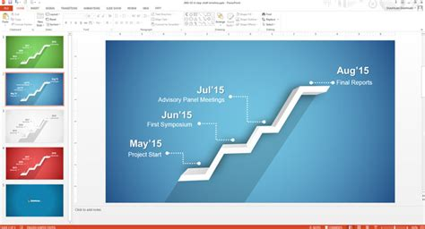 How To Edit The Timeline Template In Powerpoint Slidemodel Microsoft Powerpoint Templates Time