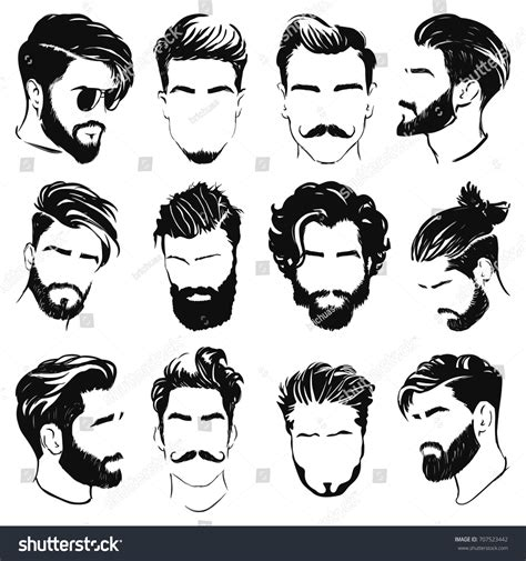 Hairstyle Tools Designs For Silhouette Harry by Vector Hairstyle Silhouettes Stock Vector 707523442