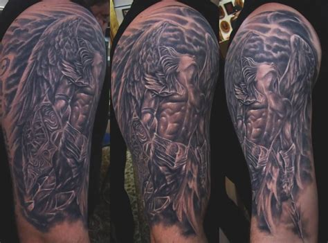 archangel tattoo archangel on half sleeve by fwa xyooj