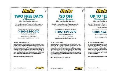 rental car coupon hertz