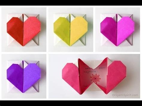 tutorial origami heart box how to make simple romantic origami heart boxes diy
