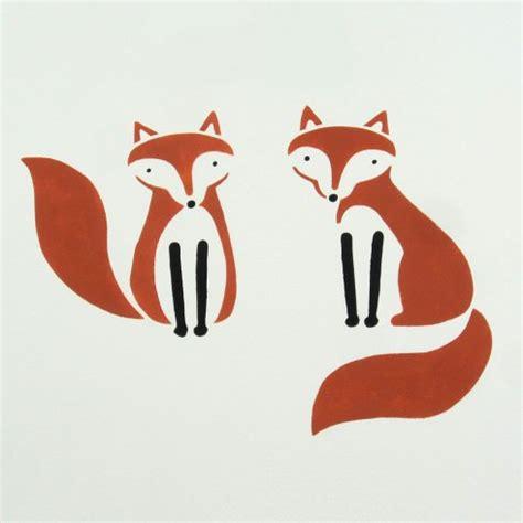 decoration stencils fox friends stencil kit trendy fox stencils for diy