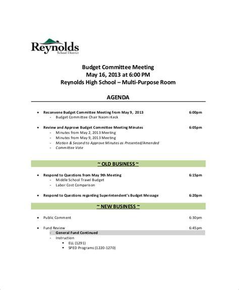 12 Budget Meeting Agenda Templates Free Sle Exle Format Download Free Premium Sunday School Meeting Agenda Template