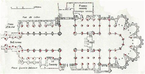Amiens Cathedral Floor Plan by Saint Quentin Cathedral Basilica Subsidiary Page To