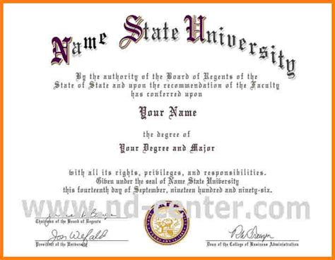 6  university graduation certificate template   sample of