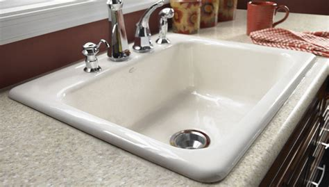 how to install a kitchen sink install a cast iron sink