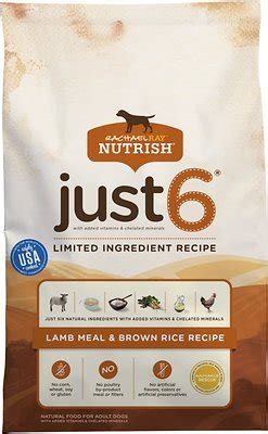 rachael ray nutrish just 6 lamb meal brown rice recipe dog food rachael ray nutrish just 6 natural lamb meal brown rice
