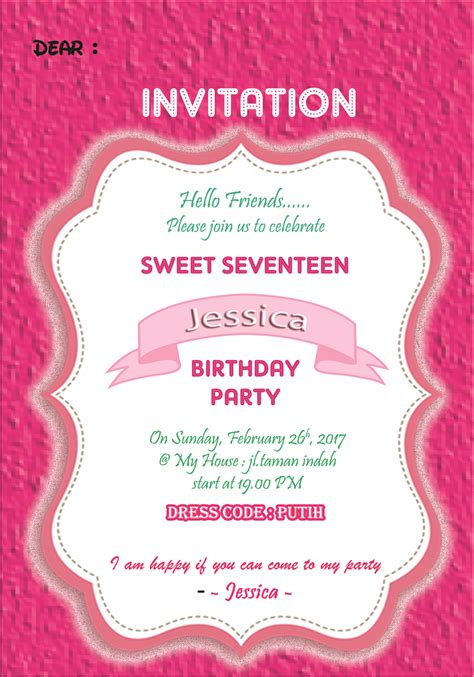 Undangan Invitation Ulang Tahun Birthday Shopskin invitation card ulang tahun gallery invitation sle