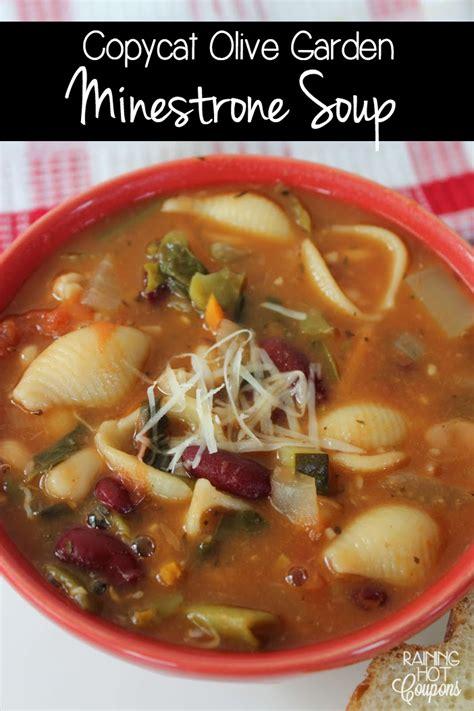 Olive Garden Minestrone Soup Recipe by Copycat Olive Garden Minestrone Soup