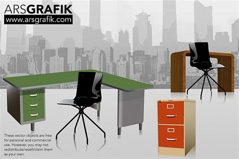 office furniture pack vector free download