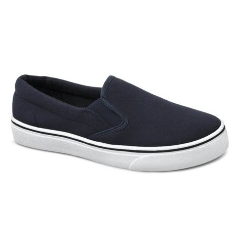 mens canvas summer casual slip on padded plimsolls
