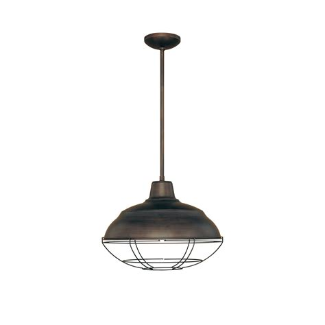 Lighting Pendant Millennium Lighting 5311 Rbz Neo Industrial Rubbed Bronze One Light Pendant