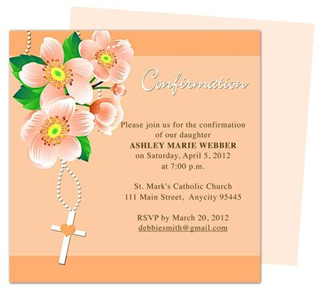 confirmation invitations templates free 17 best images about confirmation invitations on