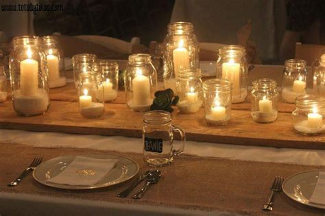 wedding centerpieces with jars and candles 35 stylish jar wedding ideas table decorating ideas