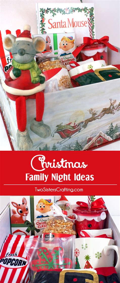 christmas family night ideas two sisters crafting