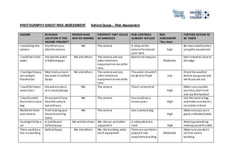 data center risk assessment template photography shoot risk assessment form