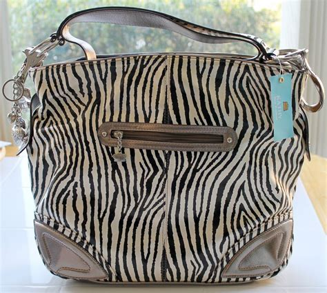 zebra pattern purses kathy van zeeland patent triple compartment zebra pattern