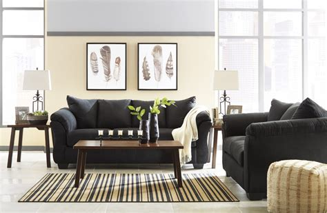 darcy sofa and loveseat darcy black sofa loveseat 75008 35 38 living